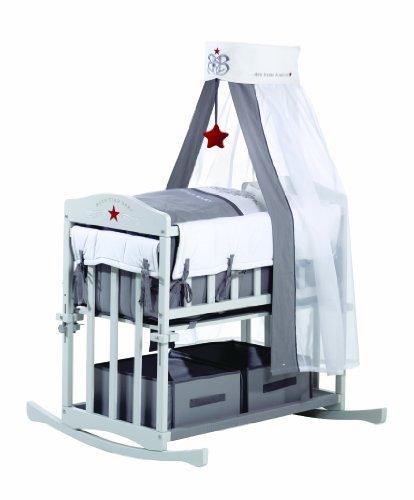 Roba 8943 rs1 rock star baby culla grigio prima infanzia - Culla da affiancare al letto ...
